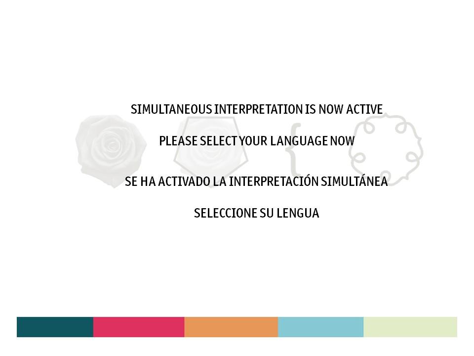 diapositiva interpretación simultánea zoom
